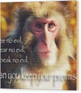 Regulation Of A Monkey Wood Print