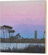 Rehoboth Beach Sunset Wood Print