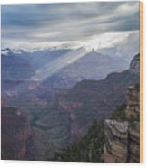 Reign Of Light Over The Canyon Wood Print