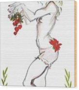 Reindeer Cupid - Holiday Cards Wood Print