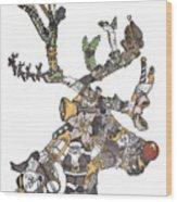 Reindeer Games Wood Print