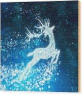 Reindeer Stars Wood Print