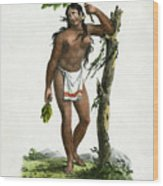Reine De Carolines Queen Of The Carolines On Tinian Wood Print