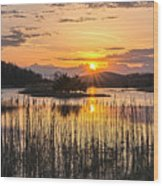 Rejoicing Easter Morning Skies Wood Print