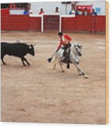 Rejoneador And The Bull, San Miguel De Allende Wood Print