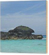 Relax At Horseshoe Bay Bermuda Wood Print