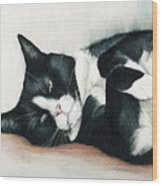 Relaxed Tuxedo Wood Print