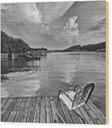 Relaxing On The Dock Wood Print