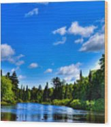 Relaxing On The Moose River Wood Print