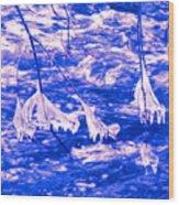 Ice Bats Wood Print
