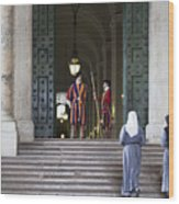 Religious Visit Wood Print