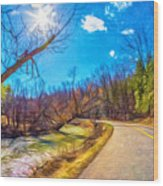 Reluctant Ontario Spring 3 - Paint Wood Print