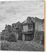 remains of st pauls school derelict building site future campus for university college Birmingham UK Wood Print