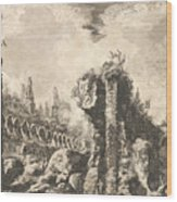 Remains Of The Temple Of Castor And Pollux Wood Print
