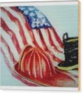 Remembering 9/11 Wood Print