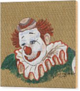 Remembering Felix Adler The Clown Wood Print