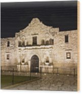 Remembering The Alamo Wood Print