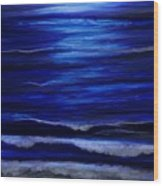 Remembering The Waves Wood Print