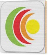 Remix - App Icon Wood Print