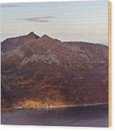 Remote Arctic Island Village Wood Print