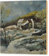 Remote Houses In The Ardennes  Wood Print