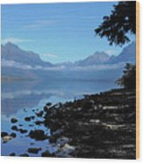 Remote Range Wood Print