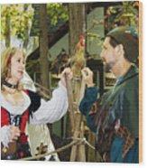 Renaissance Faire With Hen Wood Print