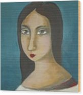 Renaissance Girl Wood Print