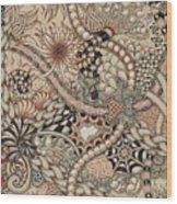 Renaissance Tangle Art Wood Print