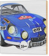 Alpine Renault A110 Wood Print