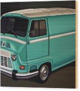 Renault Estafette 1959 Painting Wood Print