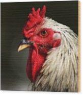 Renegade Rooster Wood Print