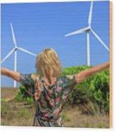Renewable Energy Concept Wood Print