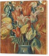 Renoir: Bouquet Of Tulips Wood Print by Granger