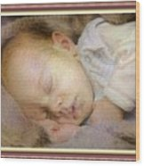 Renoircalia Catus 1 No. 2 - Adorable Baby L B With Decorative Ornate Printed Frame. Wood Print