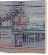Repair Shop Wood Print by Donald Maier