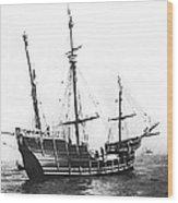 Replica Of Columbus's Nina Wood Print