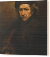 Replica Of Rembrandt's Self-portrait Wood Print