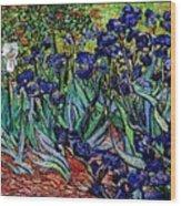 replica of Van Gogh irises Wood Print