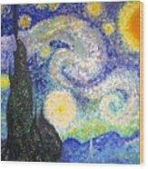 Replica Of Van Gogh Wood Print
