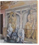 Reposo En El Vaticano Wood Print