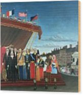 Representatives Of The Forces Greeting The Republic As A Sign Of Peace Wood Print