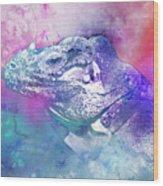 Reptile Profile Wood Print