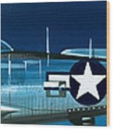 Republic P-47n Thunderbolt Wood Print
