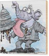 Republicans Lick Congress Wood Print