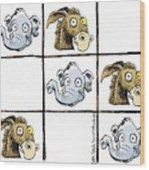 Republicans Win Tic Tac Toe Wood Print