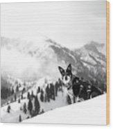 Rescue Dog Wood Print