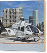 Rescue Helocopter Wood Print