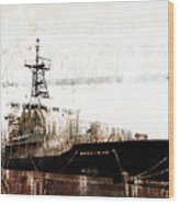 Research Vessel Atlantis In Astoria Oregon Wood Print