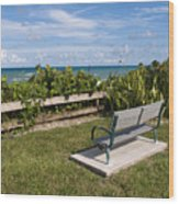 Reserved For A Visitor To East Coast Florida Wood Print